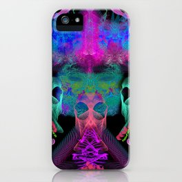 Ghostly Exhalations (ultraviolet) iPhone Case