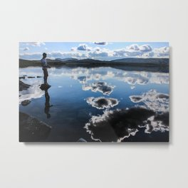 Clouds Fisherman  Metal Print