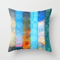 blues Throw Pillows featuring Blues by Olivia Joy StClaire