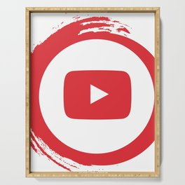 youtube youtuber - broadcast best design you tube for YouTube lover Serving Tray