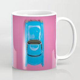 Cars Story - Pink on Blue & Reverse Coffee Mug