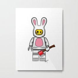 bunny scribble face Metal Print