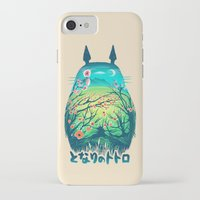 ghibli iPhone & iPod Cases featuring He Is My Neighbor by Victor Vercesi