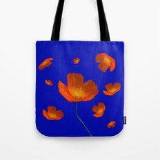 Poppies in th sun Tote Bag