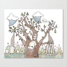 Portland Beer Tree Canvas Print