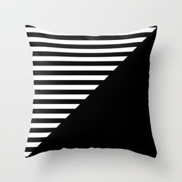 CRAZY STRIPES (BLACK-WHITE) Throw Pillow
