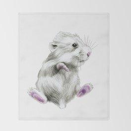 Sweet hamster Throw Blanket