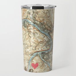 Love Pittsburgh PA Travel Mug
