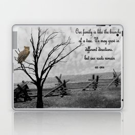 Great Horned Owl with Family Quote A570 Laptop & iPad Skin