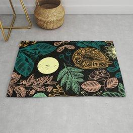 Exotic Plant Poster - Black Rug