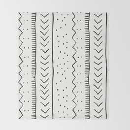 Moroccan Stripe in Cream and Black Throw Blanket
