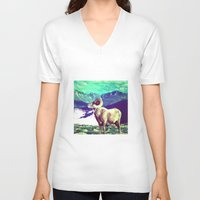 ram V-neck T-shirts featuring RAM by SPACEZING