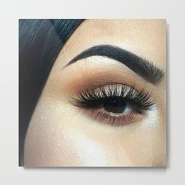 Lashes For Days Metal Print