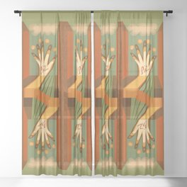 Paz This is the Gift Sheer Curtain