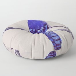Blue Jay Bird Floor Pillow