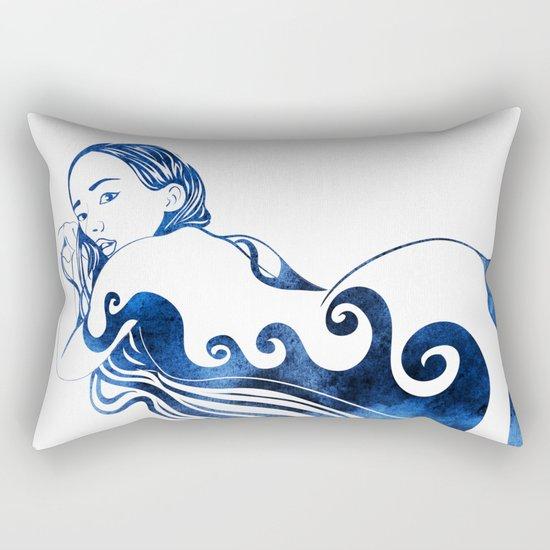 Water Nymph III Rectangular Pillow