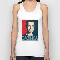 bazinga Tank Tops featuring Bazinga Poster by JohnLucke
