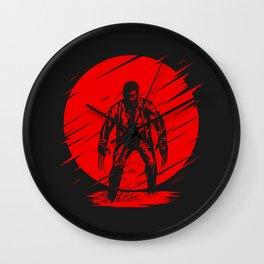 Logan Red Sunset Wall Clock
