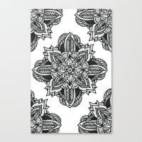 zentangle Canvas Prints featuring zentangle by Maria Velik