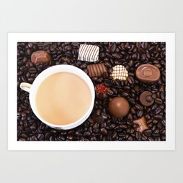 Coffee And Chocolate Delight Art Print