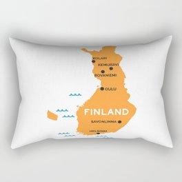 Finland Map Rectangular Pillow