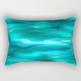 Abstract Waterfall Tropical Lagoon Rectangular Pillow