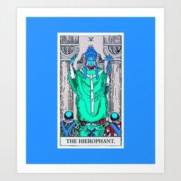 5. The Hierophant- Neon Dreams Tarot Art Print