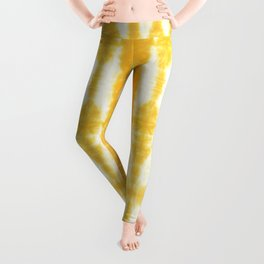 Yellow Tiki Shibori Leggings