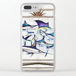 Pacific Billfish Slam Marlins,Sailfish,Swordfish,Spearfish Clear iPhone Case