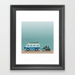 Surf Vans Framed Art Print