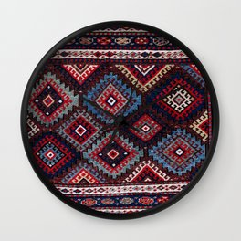 Jaff  Kurdish West Persian Bag Face Print Wall Clock