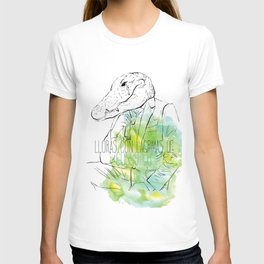 Lloras con lágrimas de cocodrilo (you cry with cocodrile tears) T-shirt