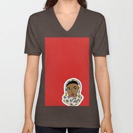 girl in red Unisex V-Neck