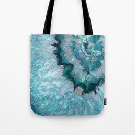 Teal Crystal Tote Bag