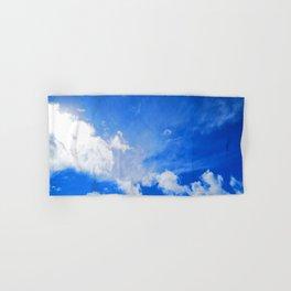 blue cloudy sky std Hand & Bath Towel