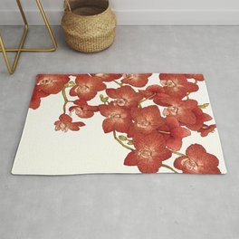 Red Orchids Rug