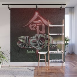 It's all about living intensely Wall Mural