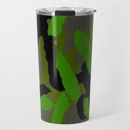 Green Camouflage Design Travel Mug