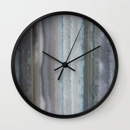 Agate Stripe Gray Wall Clock