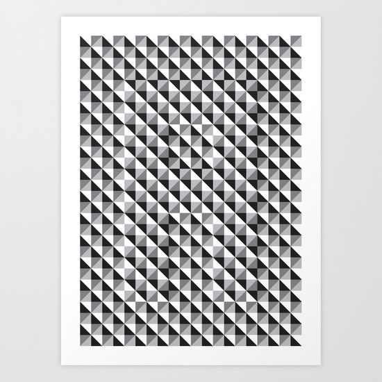 Typoptical Illusion A no.3 Art Print