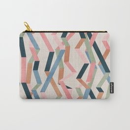 Straight Geometry Ribbons 1 Carry-All Pouch