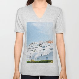 Lost in Santorini Greece Unisex V-Neck