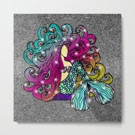 Rainbow Mermaid Metal Print