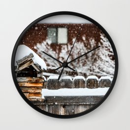 Snow House Wall Clock