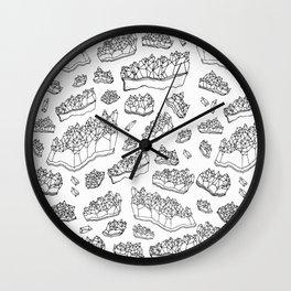White Amethyst Wall Clock