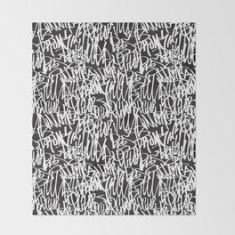 Graffiti illustration 07 Throw Blanket