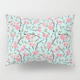 Cherry Blossom Pattern(sky) Pillow Sham