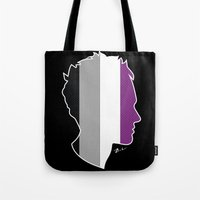 asexual Tote Bags featuring Asexual Love by Winter Graphics