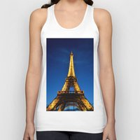 eiffel Tank Tops featuring Eiffel by Heather Hartley