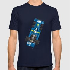 Outline Series N.º3, Jody Scheckter, Tyrrell-Ford 1976 LARGE Navy Mens Fitted Tee